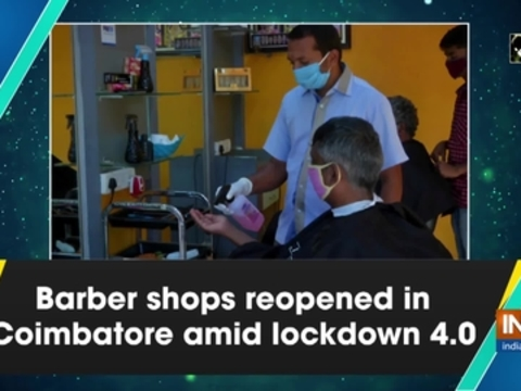 Barber shops reopened in Coimbatore amid lockdown 4.0