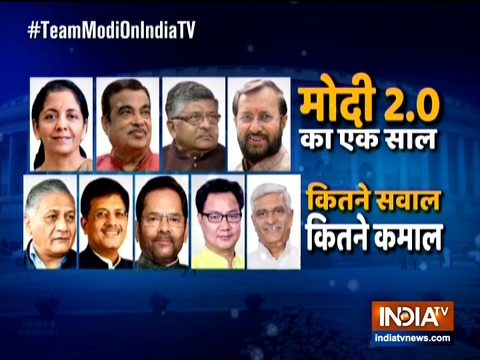 Watch top ministers from Modi government discuss a year of Modi 2.0, from 10 am on India TV