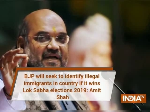BJP will seek to identify illegal immigrants in country if it wins Lok Sabha elections 2019: Shah
