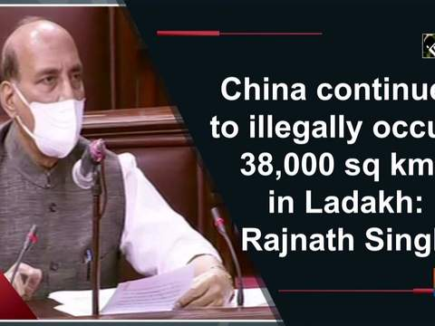 China continues to illegally occupy 38,000 sq kms in Ladakh: Rajnath Singh