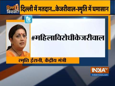 Smriti Irani slams Arvind Kejriwal over tweet, says women capable of chosing their candidates