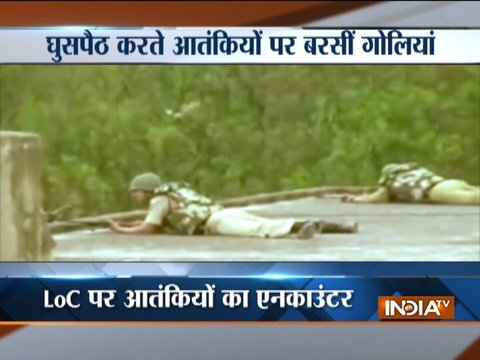 Jammu & Kashmir: Encounter between security forces and militants along LoC in Kupwara