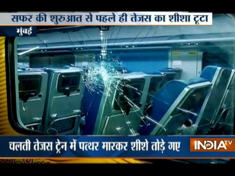 Glass window of Tejas Express found broken ahead of its launch on May 22