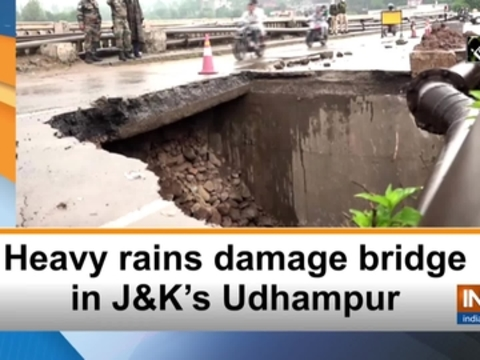 Heavy rains damage bridge in JandK's Udhampur