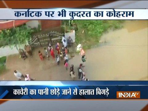 कर्नाटक में कुदरत का कहर, कावेरी नदी का पानी छोड़े जाने से कई ज़िलों में बाढ़ जैसे हालात