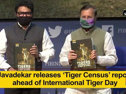 Javadekar releases 'Tiger Census' report ahead of International Tiger Day