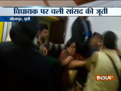 Watch: Clash between BJP MP, MLA over distribution of blanket in Sitapur, UP