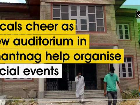 Locals cheer as new auditorium in Anantnag help organise social events