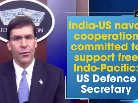 India-US naval cooperation committed to support free Indo-Pacific: US Defence Secretary