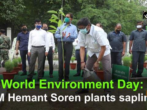 World Environment Day: CM Hemant Soren plants sapling