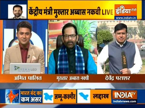 Mukhtar Abbas Naqvi blasts opposition for doing politics over farm laws