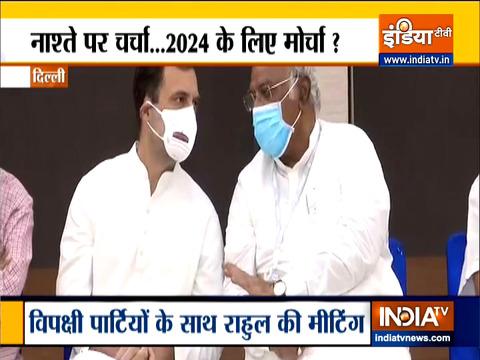 संसद की रणनीति पर राहुल गांधी की अगुवाई में विपक्ष की बैठक