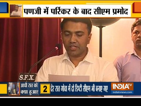 BJP's Pramod Sawant takes oath as Goa Chief Minister