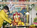 Vivek Oberoi, Jitendra and his family bid goodbye to Lord Ganesha
