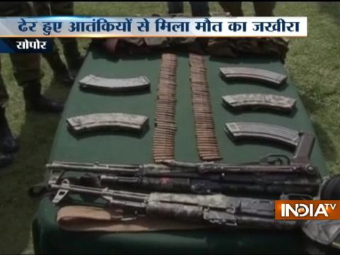 Indian army shot down 2 terrorists in Sopore