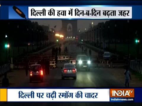दिल्ली की हवा में सांस लेना मुश्किल है