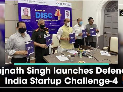 Rajnath Singh launches Defence India Startup Challenge-4