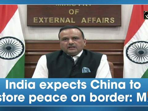 India expects China to restore peace on border: MEA