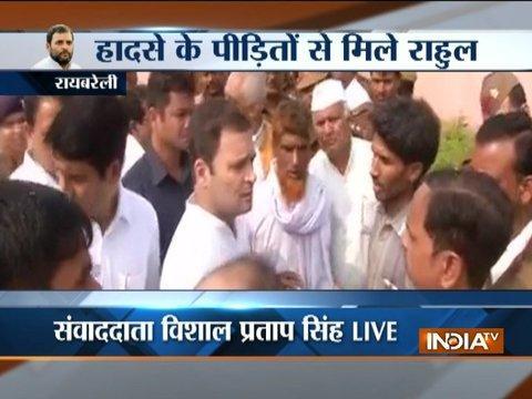 NTPC Power Plant blast: Death toll rises to 26; Rahul Gandhi meets victims' kin in Raebareli