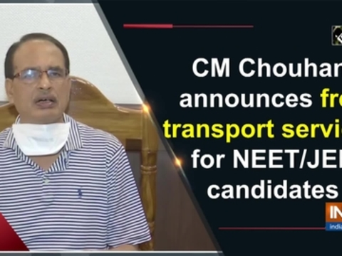 CM Chouhan announces free transport services for NEET/JEE candidates