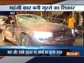 Angry public vandalizes car after it hits 2 people in Mumbai, accused driver arrested