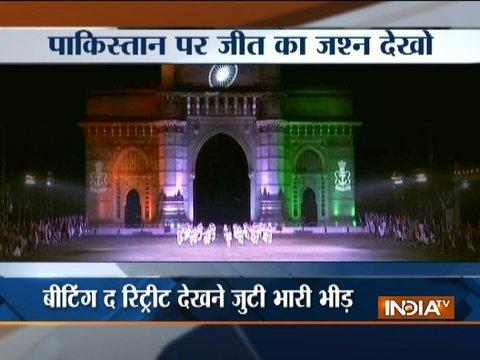 Mumbai: Indian Navy performs Beating Retreat ceremony at Gateway of India