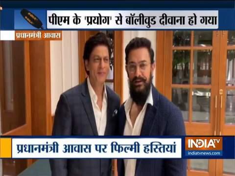 आमिर खान, शाहरुख खान ने की गांधी जी के विचारों पर चर्चा