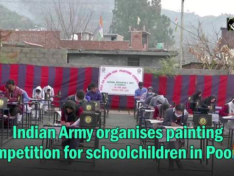 Indian Army organises painting competition for schoolchildren in Poonch