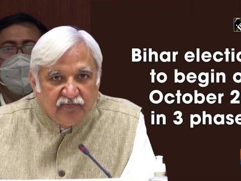 Bihar elections to begin on October 28, in 3 phases