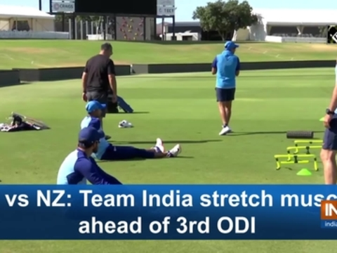 Ind vs NZ: Team India stretch muscles ahead of 3rd ODI