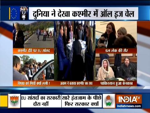 The delegation of European Union (EU) MPs visits Srinagar, opposition questions govt