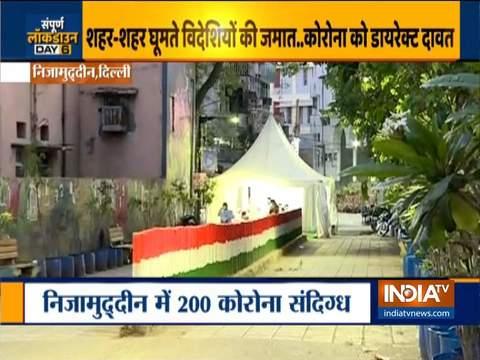 दिल्ली के निजामुद्दीन इलाके के लोगों को चेकअप के लिए अस्पताल ले जाया गया