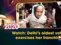 Watch: Delhi's oldest voter exercises her franchise