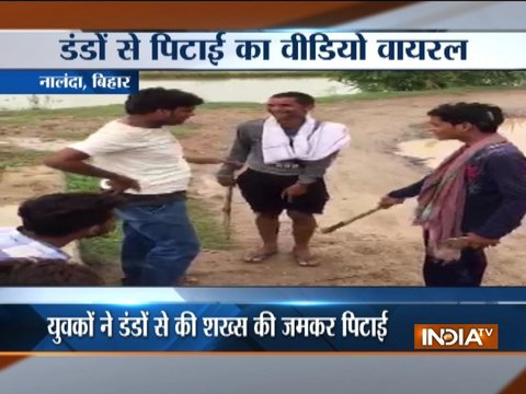 Caught on camera: Bihar man thrashed in Nalanda, forced to lick spit