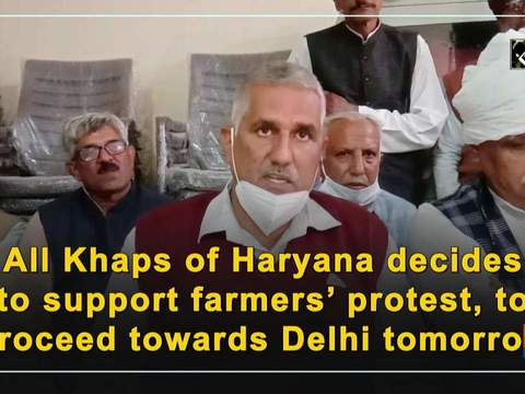 All Khaps of Haryana decides to support farmers' protest, to proceed towards Delhi tomorrow