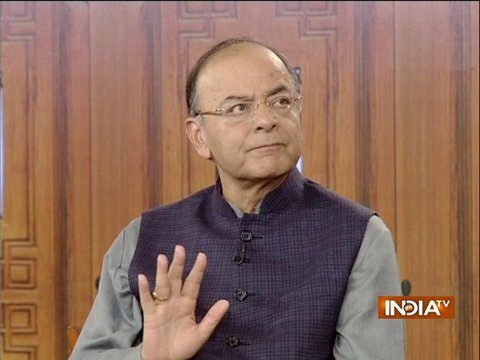 Finance Minister Arun Jaitley in Aap Ki Adalat (2018)