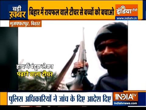 Bihar: Video of man teaching children with a gun in hand goes viral