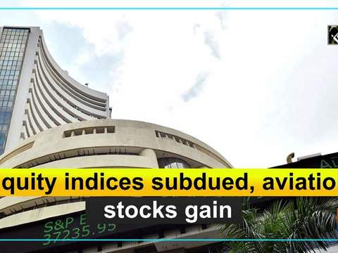 Equity indices subdued, aviation stocks gain