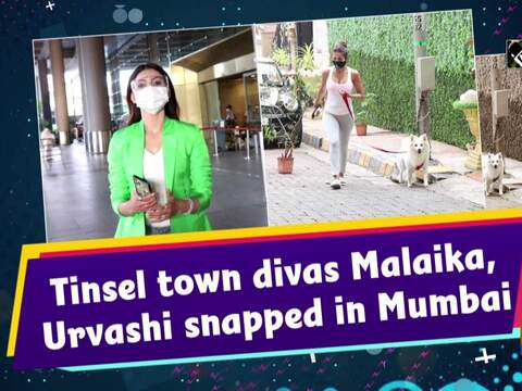 Tinsel town divas Malaika, Urvashi snapped in Mumbai