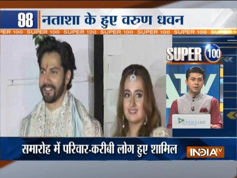 Super 100: Varun Dhawan marries 'love of his life' Natasha Dalal