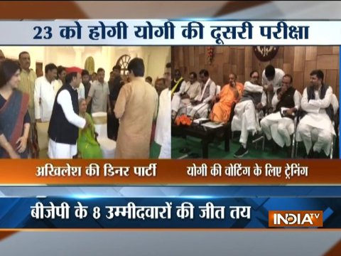 Rajya Sabha Polls in Uttar Pradesh: Political parties resort to dinner diplomacy