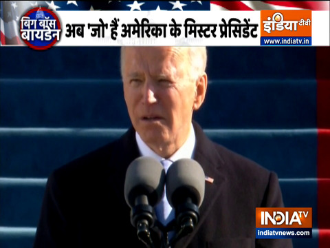 Joe Biden calls for unity in first speech as US President