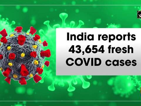 India reports 43,654 fresh COVID cases