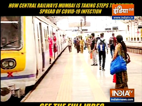 Railway authorities take serious measures to prevent coronavirus spread in Mumbai local trains
