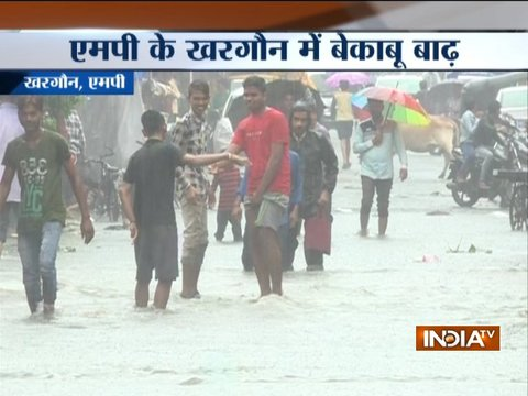 Madhya Pradesh: Rivers on a spate after heavy showers in Khargone