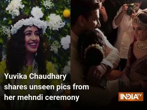 Yuvika Chaudhary shares unseen pics from her mehndi ceremony