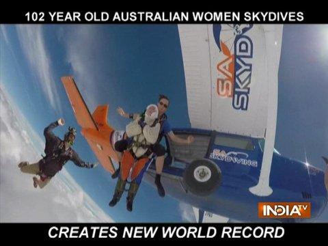 दुनिया की सबसे उम्रदराज स्काइडाइवर हैं 102 साल की यह बुजुर्ग
