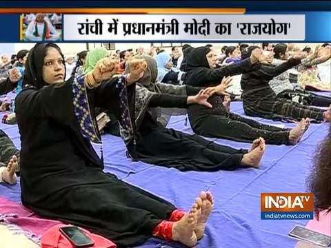 International Yoga Day 2019:Muslim ladies perform yoga in mumbai