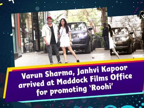 Varun Sharma, Janhvi Kapoor arrived at Maddock Films Office for promoting 'Roohi'