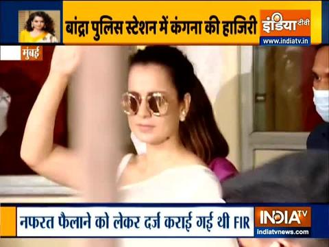 Kangana Ranaut appears before Mumbai Police after sharing video message